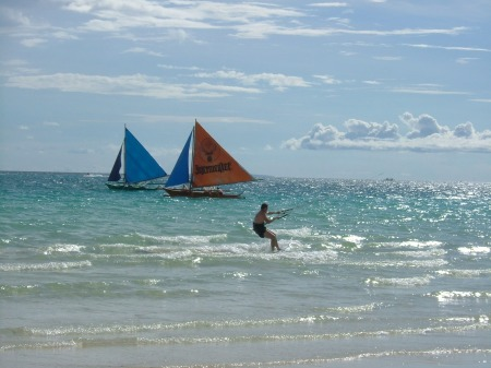 Me on a Kite-surfingcourse…