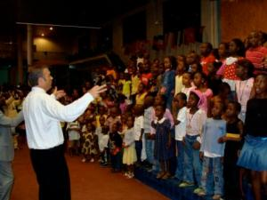 """Pastor Rice wrote 2 awesome songs right at the conference - here the kids spontaneously get right into one called """"Africa will be saved!"""" It was incredible! Maybe he'll write one for London at our Oct conference?!"""
