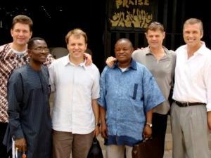 Michael Swain, Host Pastor Sam, Roger Pierce, Bishop Lambalamba, me, Rice Broocks