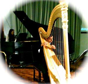 Dan & Mel on harp & piano - beautiful!