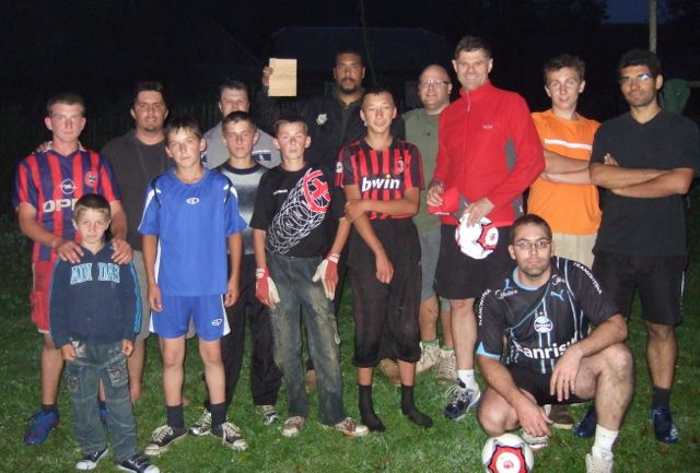 Footbal with local kids