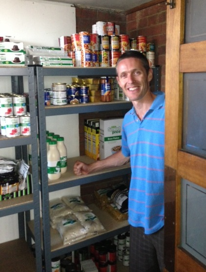 Pastor Andrew Holmes from our Stratford Congregation - ready to launch their FoodBank in Stratford!