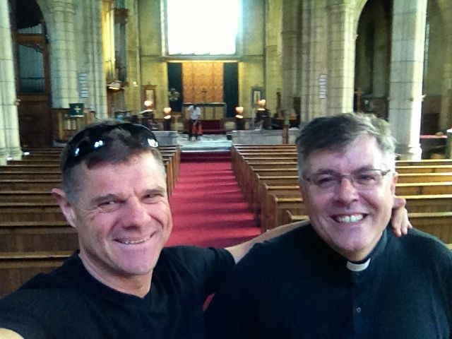 My friend Steve who came to Christ at EN, now vicar in Neasden!