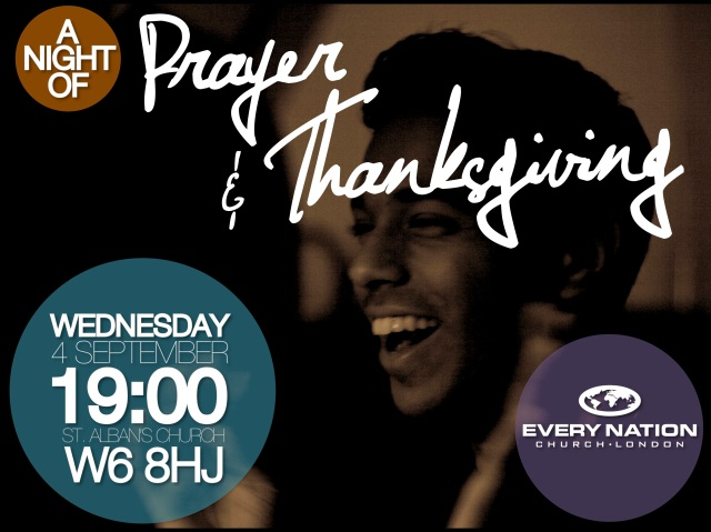 a night of prayer and thanksgiving