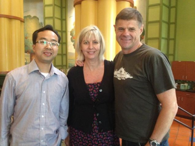 With Steve, our hero church plant leader of the church we planted in China from London