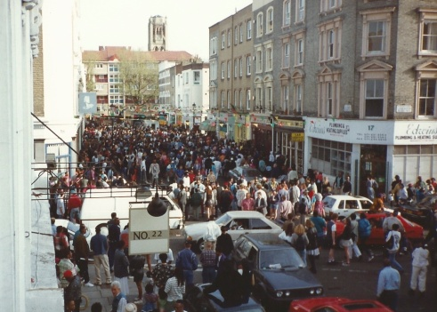 View from our All Saints Road window as London celebrates the New South Africa in April 1994!