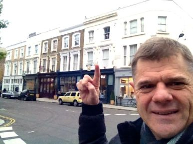 Our first apartment in London, where we held our first church meetings.