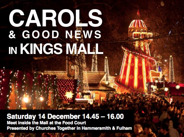 Carols in Kings Mall advert