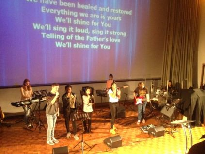Our youth band leading Worship