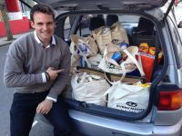 A carload of food collected for the Foodbank this week