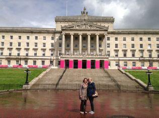Ali & Audtee at Stormont - Parliament buildings