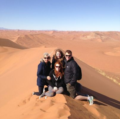 We climbed the Namib's Deserts highest dune...