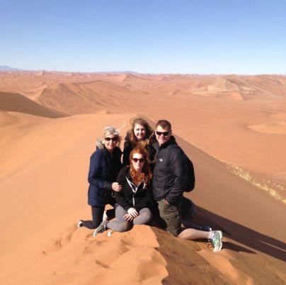 We climbed the Namib's Deserts highest dune...