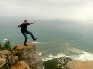 One small step off Lion's Head, Cape Town