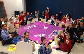 Kids at the Christmas arty!