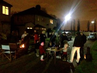 A neighbourhood street party outside our house..