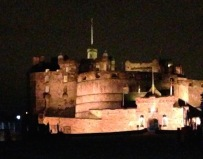Edinburgh Castle by night...