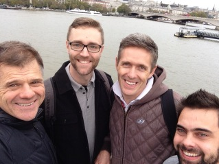 Love doing life with guys like these: Seth, Andrew & Greg...